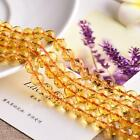 0100 Natural Yellow Crystal 64 Faceted dream Yellow Crystal beads strand