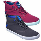 Mens Designer Voi Jeans Hi Top Canvas Shoes Pumps Trainers Plimsoles Footwear H1