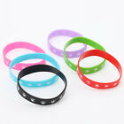 10/50pcs Mixed Colorful Silicone Printed Sport Wristband Hand Strap Bracelets J