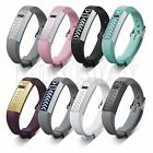 Silicone Watch Band Wrist Strap Metal Cover Shell/Buckle For Fitbit Flex Tracker