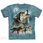 The Mountain OLD SCHOOL WOLF COLLAGE Adult Men T-Shirt S-2XL Short Sleeve