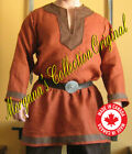 Medieval Celtic Viking Long Sleeves Norman Shirt with Collar & Trims Deluxe