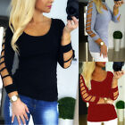 New Summer Womens Long Sleeve T-shirt Tops Party Casual Loose Blouse Size S-XL