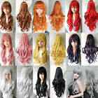 WOMEN NEW GIFT LONG CURLY BIG WAVY HAIR COLORFUL PERMA-LONG COSPLAY WIG