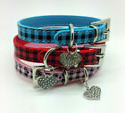 DOG COLLAR RHINESTONE TEACUP XS X SMALL HEART CHARM PUPPY TOY ADJUSTABLE