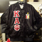 Kappa Alpha Psi Black Satin Baseball Retro Jacket *NEW* S...