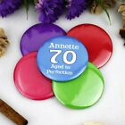 Personalised 70th Birthday Party Badge | Pin Style | 5cm Badge