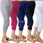 New Pregnant Woman Maternity 3/4 Length Belly Care Pants Slim Casual Leggings