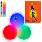 3x LED Glow Juggling Balls Set & 'How to' Juggling Booklet - Loads of Colours!