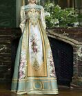 Wholesale 16 New Occident Fashion Popular Palace Printing Noble Long Dress S-XL