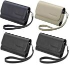Genuine RIM Leather Folio Pouch Case Card Slot Lanyard For BlackBerry Bold 9000