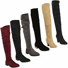 Ladies Womens Boots Long Over The Knee Suede Look Shoes By Kelsi