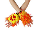 PAWSTAR Pawlets Furry Paw Cosplay Fingerless Gloves Party Fur Monster fire 3172