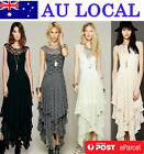 Wedding Bridesmaid Special Occasion Lace Evening Gown Prom Party  Maxi Dresses