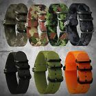 INFANTRY 22mm Army Sport Fabric Canvas Nylon Sport Wrist Watch Strap Band 5Rings