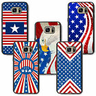 American U.S.A flag stars and stripes for samsung rubber TPU case cover skin