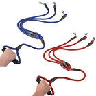 Colorful 3 Way Nylon Rope Dog Lead Strong Triple Leash with Soft Foam Handle