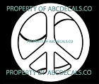 VRS Peace Sign Love Tennis Racket Ball Inside CAR DECAL VINYL STICKER
