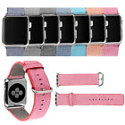 Casual Nylon Watch Band Replacement Strap with Classic Buckle for Apple Watch
