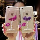 3D Liquid Quicksand Wine Glass Silicone Phone Case For iPhone 5 6 Plus+Hang rope