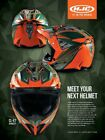 HJC CL-X7 Dynasty Orange MX Dirtbike Helmet Off Road Brand New Large