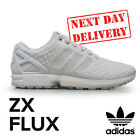 New 2016 Adidas ZX Flux Woven Fashion Running Retro Casual White Shoes Trainers