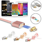 New 1 Meter 2.4A Micro USB Charging Cable Magnetic Adapter Charger for Android