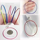 """CLIP ON 2-1/4"""" COLOR Painted HOOP Non-Pierced Thin Lightweight Earrings 5 Colors"""