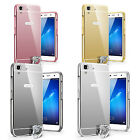 New case Luxury Mirror Back Cover Metal Aluminum Frame Case for Huawei Honor Y6