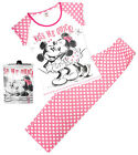 Womens Disney Minnie Mouse Kiss Me Quick Polka Pyjamas Plus Sizes 8 to 22