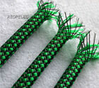 GREEN Color Braided Soft PP Cotton Yarn + PET Expandable Sleeving 4mm/8mm/12mm