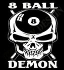 Pool Shirt 8 Ball Hustler Snooker 8 Ball Demon Skulls Head Original $24.29 USD on eBay