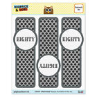 Set of 3 Glossy Laminated Bookmarks - Birthday Party Diamond Pattern B/W