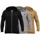 Mens Sweatshirt Soul Star Hooded Top Quilted Zip Casual Winter Warm New