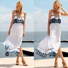 Sexy Women Sleeveless Backless High Waist Side Split Long Maxi Dres K0E1