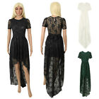Sexy New Long Women Lace Dress Prom Evening Party Cocktail Bridesmaid Wedding CD