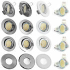 1-10er Set 230Volt Einbaustrahler SMD LED 3,3 = 35W Halogen Downlight GU10 IP65