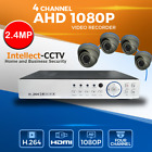 4X BULLET CAMERA OUTDOOR AHD 2 MP 1080P DVR 4 CHANNEL HDMI SECURITY SYSTEM