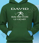 Personalised Badminton Hoody Hoodie Add Name Of Your Choice Great Gift Idea