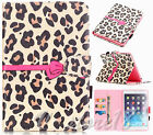 Sexy Leopard Bow girly card wallet slot Leather Flip Stand C