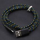 0.25 1 2 3M Hemp Rope Braided Micro USB 2.0 Data Sync Charge Charging Fast Cable
