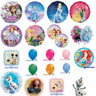 DISNEY FOIL ROUND AND SHAPED BALLOONS PRINCESS CINDERELLA BRAVE OLAF FROZEN