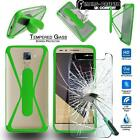 Tempered Glass Screen Protector + silicone bumper Case For Huawei Honor Phones
