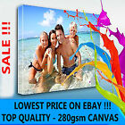 """YOUR PERSONAL PHOTO ON CANVAS 6"""" x 8"""" - DEEP 28MM FRAME ! TOP QUALITY ! SALE"""