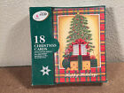 Christmas Cards Box of 18 with Envelopes Simple Cristmas Trees w/Presents  NIB