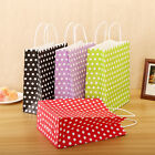 Candy Color Dots Paper Kraft Bags Wedding Birthday Party Favor Treat Gift Bags