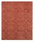 EORC ME103RD Hand Tufted Wool Red Marla Rug