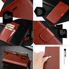 Women/Men's PU Leather Flip Wallet Card Slot Holder Stand Case For Various Phone