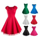 Vintage Style Fashion Wome Rock Swing Pinup Retro Cocktail Cap Sleeve Dress