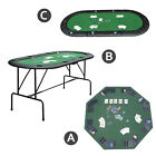 Folding Poker Table Top 8/10 Players Blackjack Tables Casino Chip Trays 3 Models